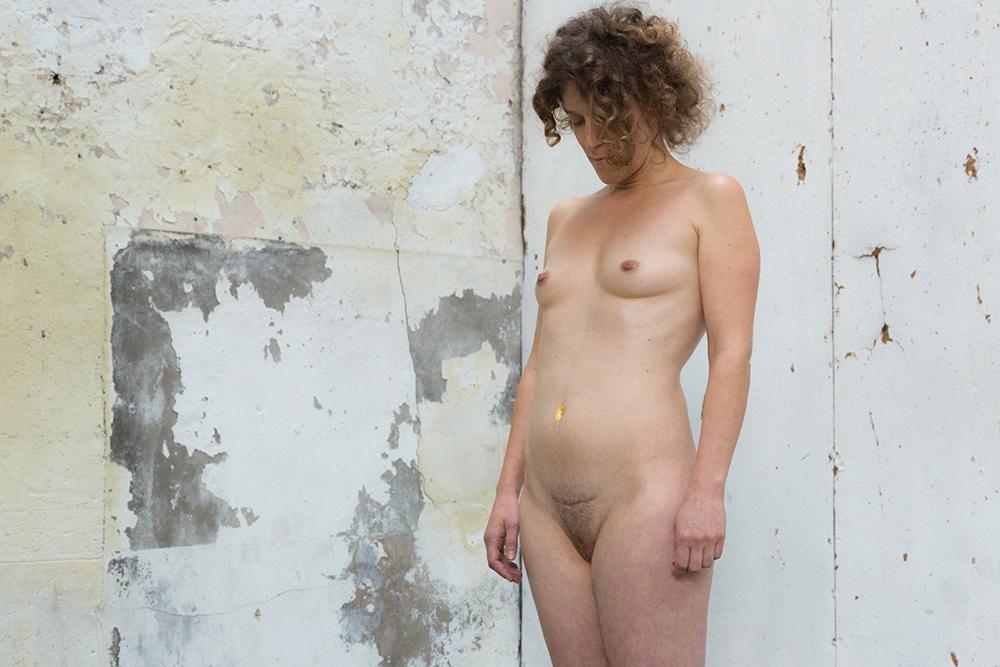 Hélène Gugenheim, Mes cicatrices Je suis d'elles, entièrement tissé. Hélène, 12 septembre 2016. Photo : Florent Mulot